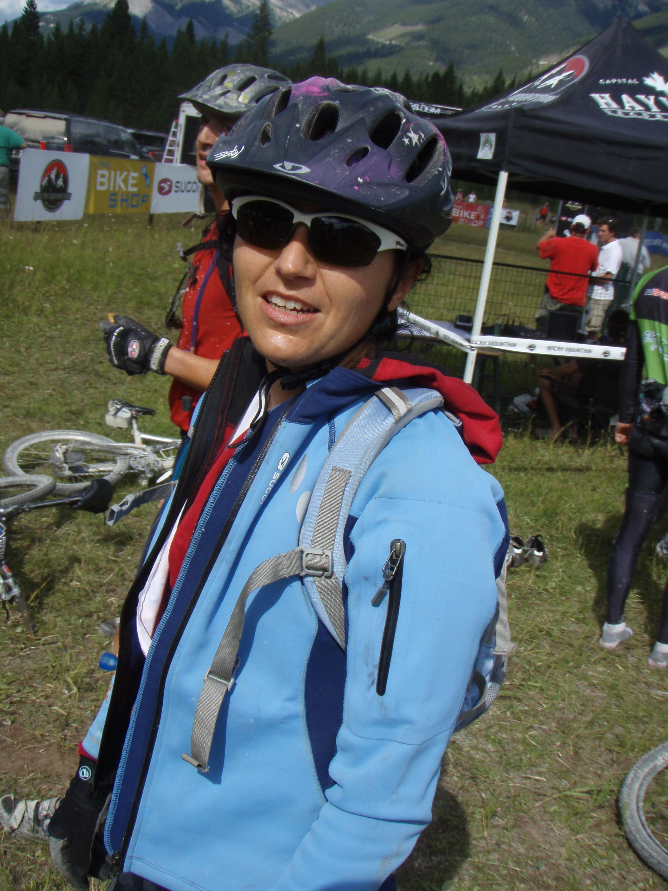 Gina on Day 4 of the Trans Rockies Challenge