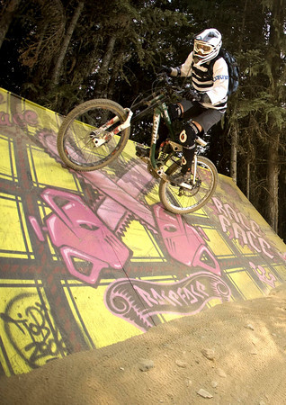 Gina on the wall ride, Whistler